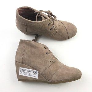 TOMS Women's Desert Wedge Boots DR01909 Sz 5.5